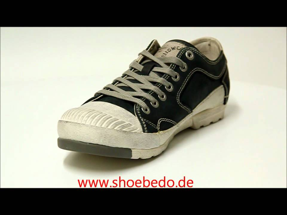 new product 52df0 57caa Yellow Cab Halbschuh Sneaker Mud Mens Black Y12054