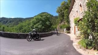Yamaha XT 500 et SR 500. Rencontre forum  Ardèche 2014. Partie 1.