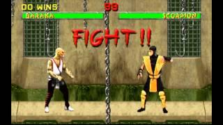 Wii U- Mortal kombat 2 arcade version- Wii mode