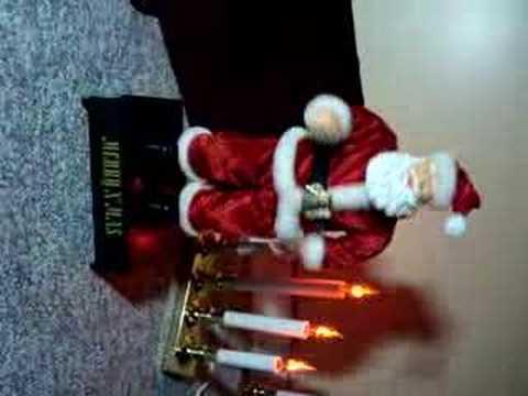 animated christmas figures dancing rocking twisting santa