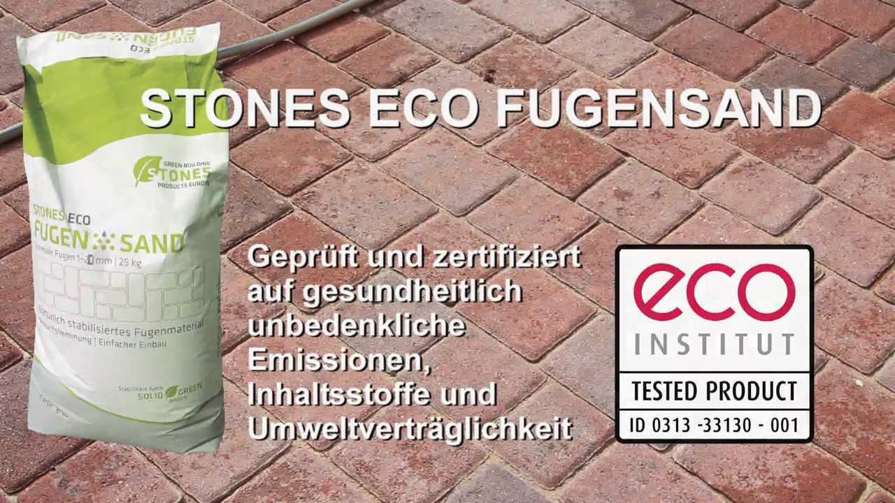 einbauanleitung stones eco fugensand youtube. Black Bedroom Furniture Sets. Home Design Ideas