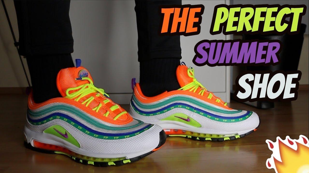 newest b7edd 5705d Nike Air Max 97 On Air  Summer Of Love  Review On Feet (Jasmine Lasode)