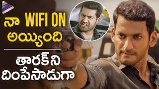 Vishal Powerful Action Scene | Ayogya Telugu Movie | Raashi Khanna | Temper Remake |Telugu FilmNagar