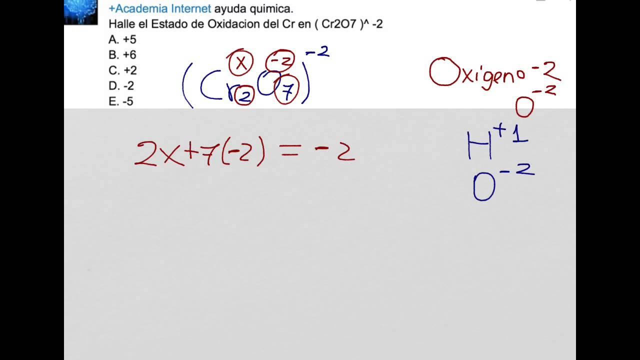 Como hallar los estados de oxidacin de un elemento en un compuesto como hallar los estados de oxidacin de un elemento en un compuesto qumico urtaz Gallery