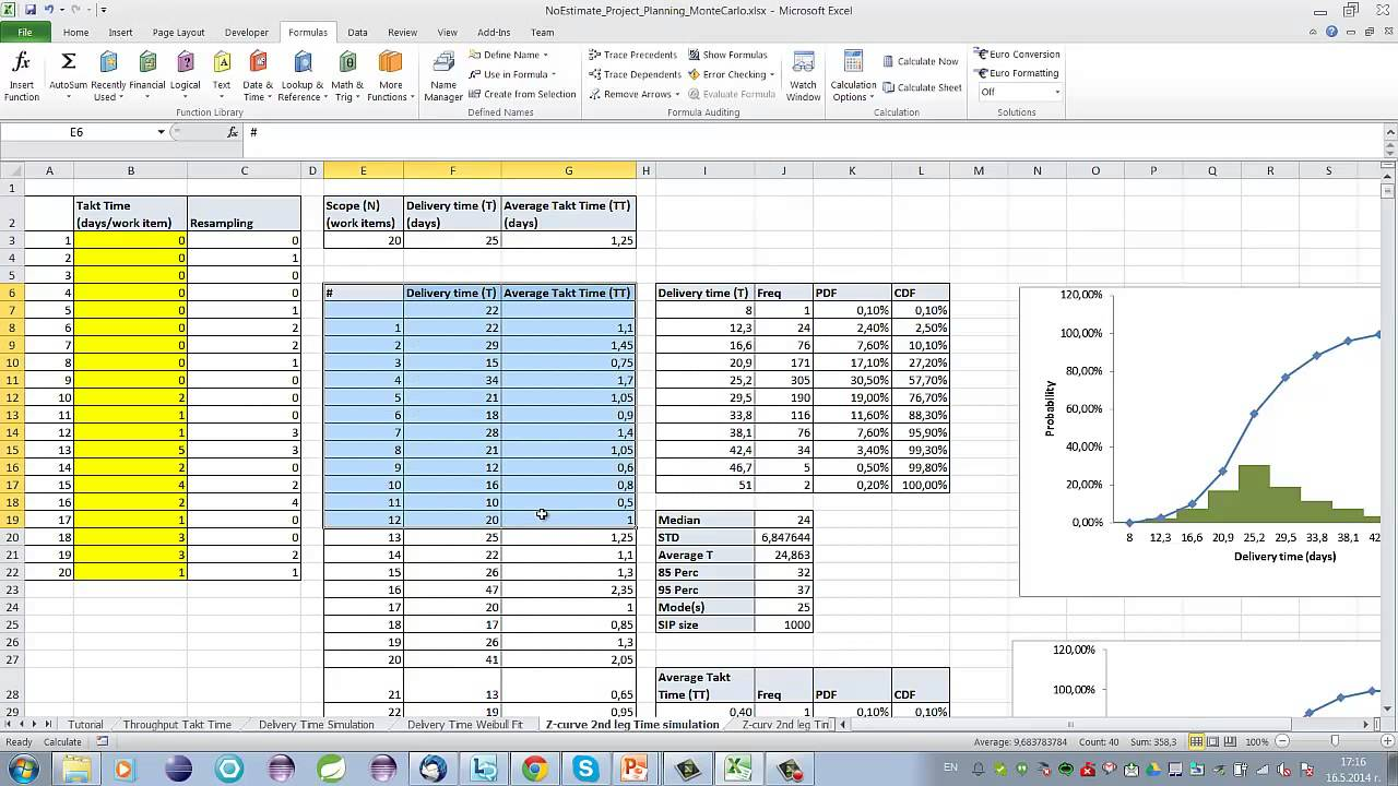 Noestimates Project Planning Using Monte Carlo Simulation Youtube