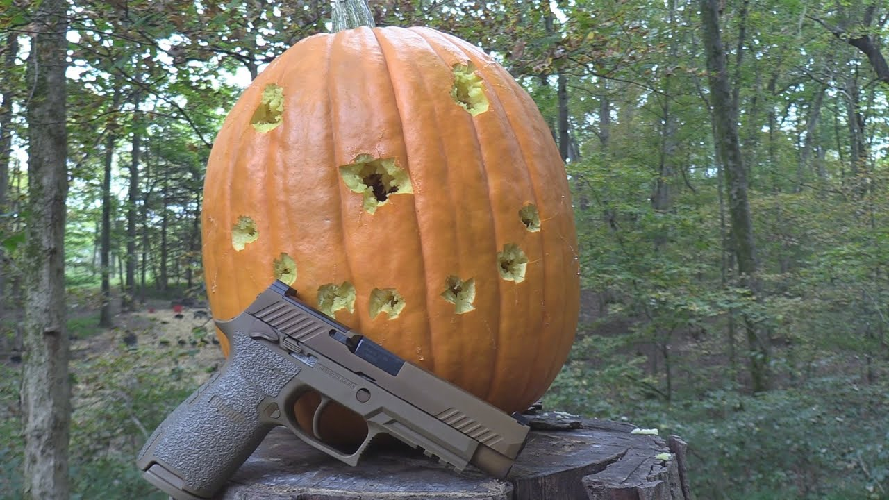 Pumpkin Carving in 2020  with a SIG M17