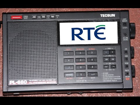 RTE raidió teilifís Éireann  252 Khz on the Tecsun PL-680 6/11/2015
