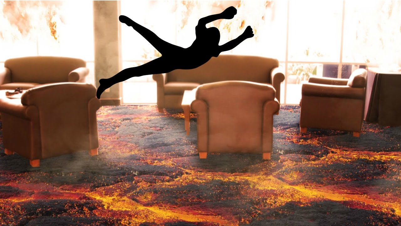 The best game of the floor is lava ever youtube for Lava parquet