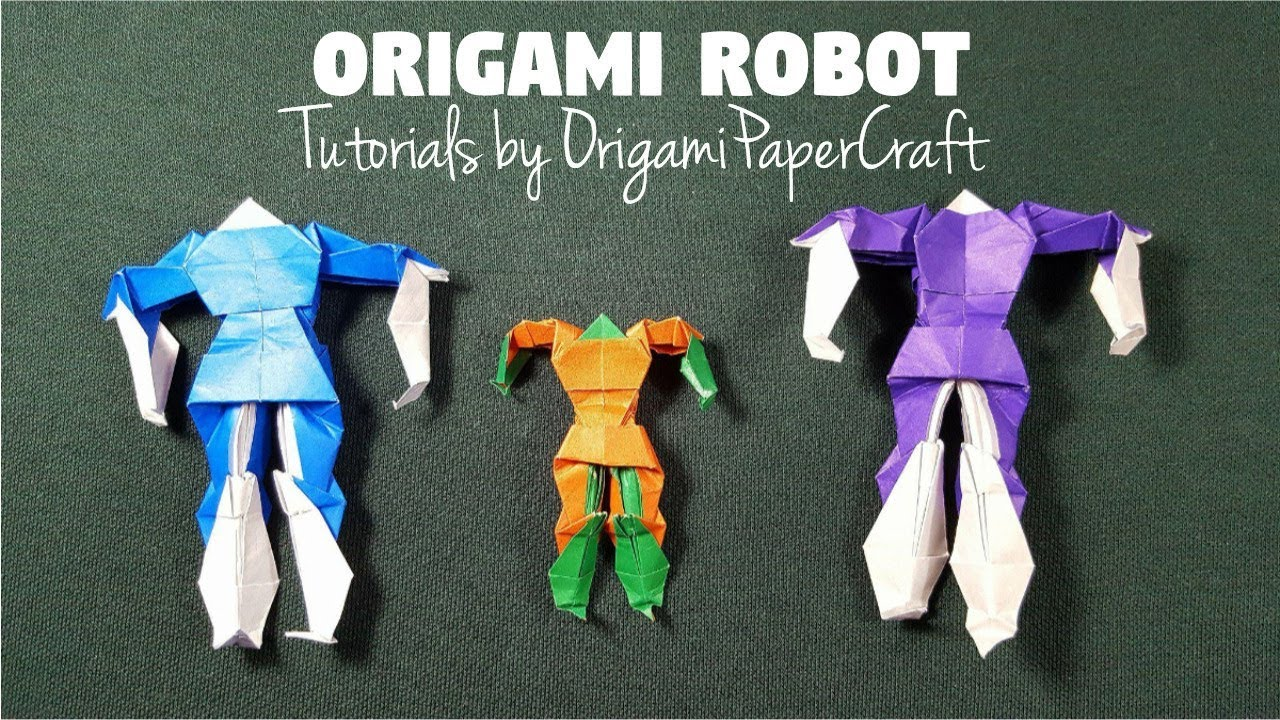 How To Make Origami ROBOT Tutorial By OrigamiPaperCraft