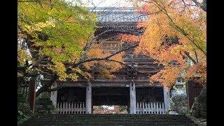 錦秋の五台山(高知市)竹林寺の写真とテナーサックスでの曲をコラボし...