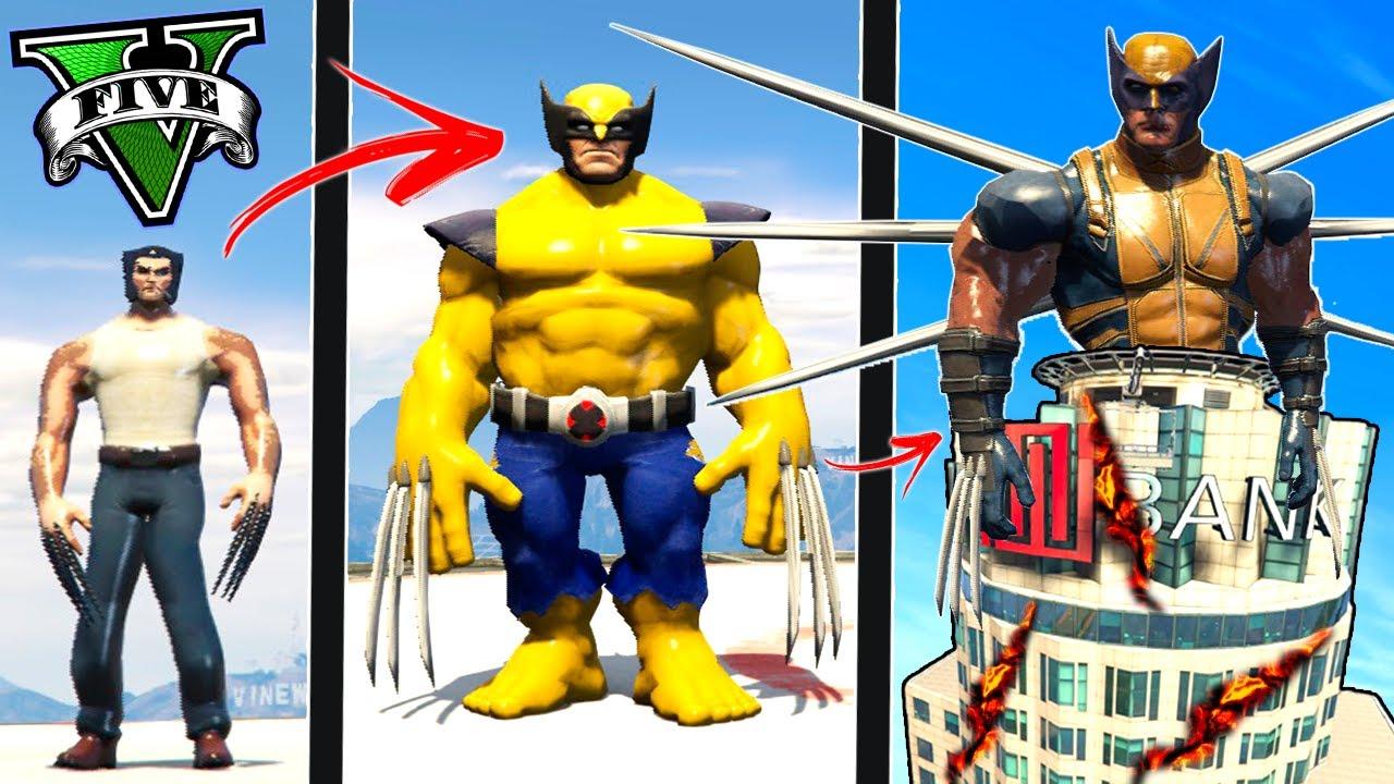 Download ATUALIZEI o WOLVERINE até o WOLVERINE DEUS no GTA 5 ! ( GTA V Mods )