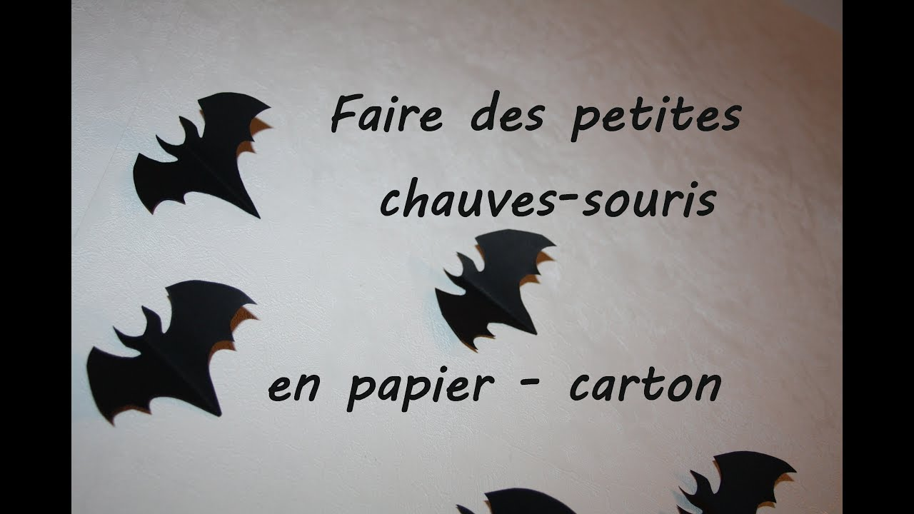 diy comment faire des petites chauve souris en papier carton pour halloween youtube. Black Bedroom Furniture Sets. Home Design Ideas