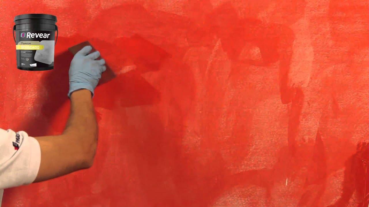 Revear stuccado revestimiento acr lico estucado youtube - Revestimiento para paredes de interior ...