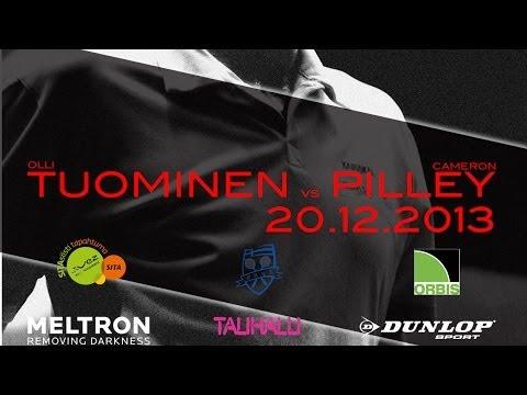 Olli Tuominen - Cameron Pilley Exhibition match 20.12.2013