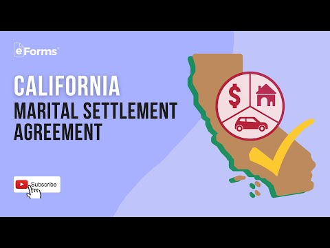 A California Martial Settlement Agreement, EXPLAINED