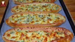 Tadına Doyamayacağınız Bir Kaşar Peynirli Pide Tarifi (Kasar Cheese Bread Boat Recipe)