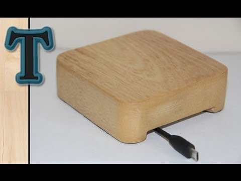 Hand Tool Woodworking | Desk Cable Tidy