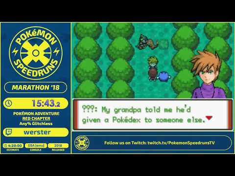 Pokemon Adventure Red Chapter Speedrun - Live at PSR Marathon 2018