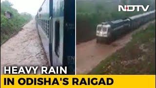 Watch: Train Gets Stuck On Waterlogged Rail Track In Odisha