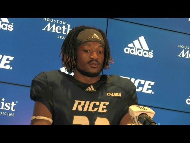 Rice - UH postgame -- Aaron Cephus