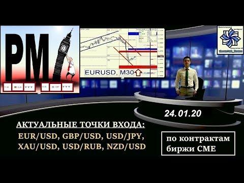 Прогноз курса валют: торговые сигналы по  EURUSD, GBPUSD (форекс по биржевым объемам CME) 24.01.20