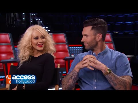 Adam Levine & Christina Aguilera discuss being back together for The Voice Season 8