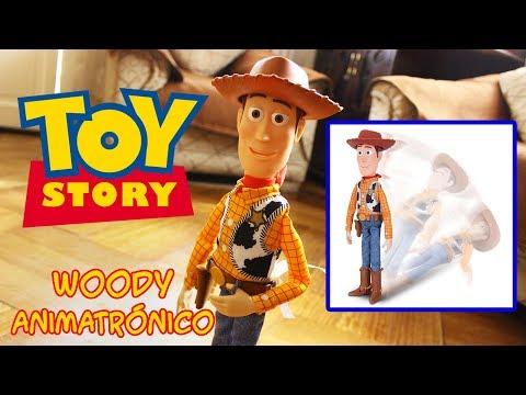 (ESPAÑOL) TOY STORY 4: Woody Animatronico Se Cae Se Desmaya Reseña review
