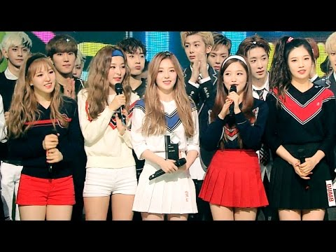 MONSTA X succumbs to Red Velvet Joy's cuteness at music show