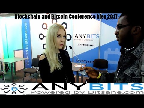 ANYBITS Exchange. Interview with Representative at the Blockchain and bitcoin Conference Kiev 2017.