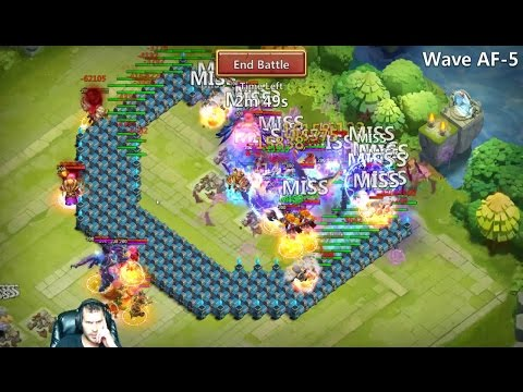 HBM AF-5 Defeated Showing The FULL Set Up USED Castle Clash
