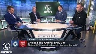 The ESPN FC Crew Reacts to Chelsea-Arsenal Draw in Carabao Cup Semifinal First Leg | ESPN FC