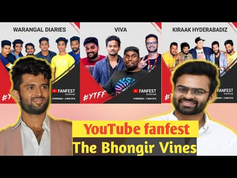 YOUTUBE Fanfest Hyderabad- The Bhongir Vines Vlog Ft. Warang