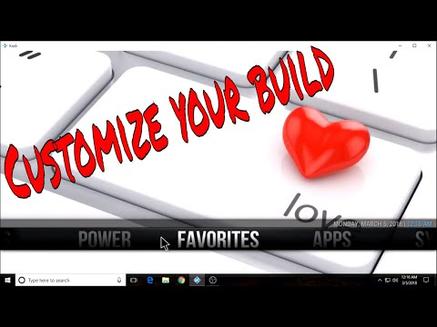 How to set a label, submenu, background and widget for your Kodi build