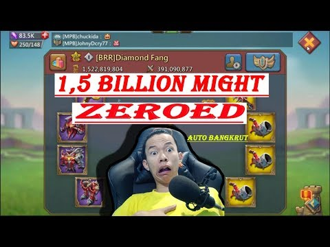 1.5 BILLION MIGHT ZEROED | LORDS MOBILE INDONESIA