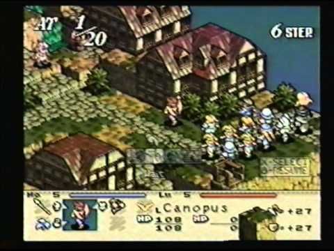 Ogre Battle gameplay PS1 - YouTube