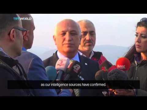 Displaced Syrian Turkmens camp near Turkish border