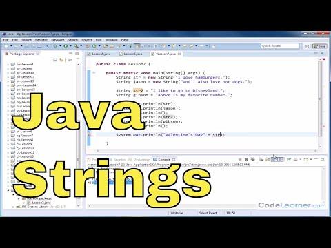 java-tutorial---07---creating-and-using-strings-in-java