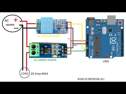AC- VOLTAGE & CURRENT SENSORS WITH ARDUINO ( POWER CIRCUITE)