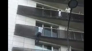 The Muslim ''Spiderman'' of Paris saves child dangling from four storey high balcony Paris balcony