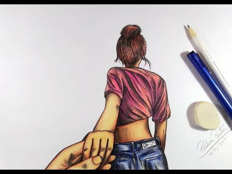 Como Desenhar Namorados Dando As Maos Passo A Passo Youtube