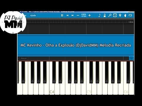 MC Kevinho - Olha a Explosão ( Tutorial Aula Piano / Teclado )