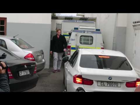 Henri Van Breda Leaving Court After He Was Granted R100000 Bail - 14 June 2016