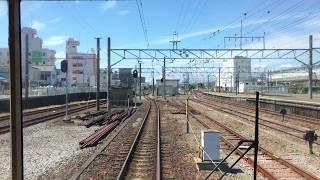 伊豆箱根鉄道駿豆線 前面展望 三島~三島広小路 Izuhakone Railway Sunzu Line Mishima to Mishima-Hirokoji Station (2017.9)