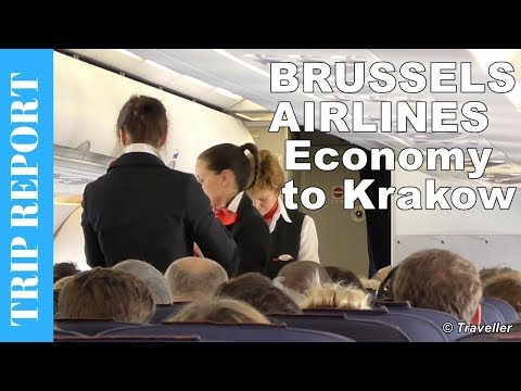 Brussels Airlines Airbus A319 Economy Class flight review from Brussels to Krakow - OO-SSI