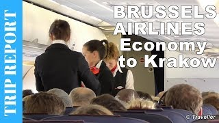 Brussels Airlines Economy Class flight review - Brussels to Krakow - Airbus A319 - OO-SSI