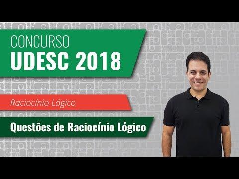 Concurso UDESC: Questões de Raciocínio Lógico | Raciocínio Lógico