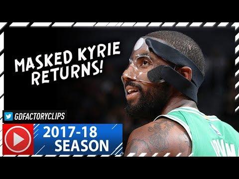 Masked Kyrie Irving RETURNS, Full Highlights vs Nets (2017.11.14) - 25 Pts, MVP Chants!