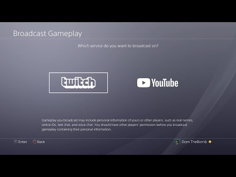 """How to stream on Youtube and Twitch on the PS4"" - How to Broadcast on the PS4 Twitch and Youtube!"