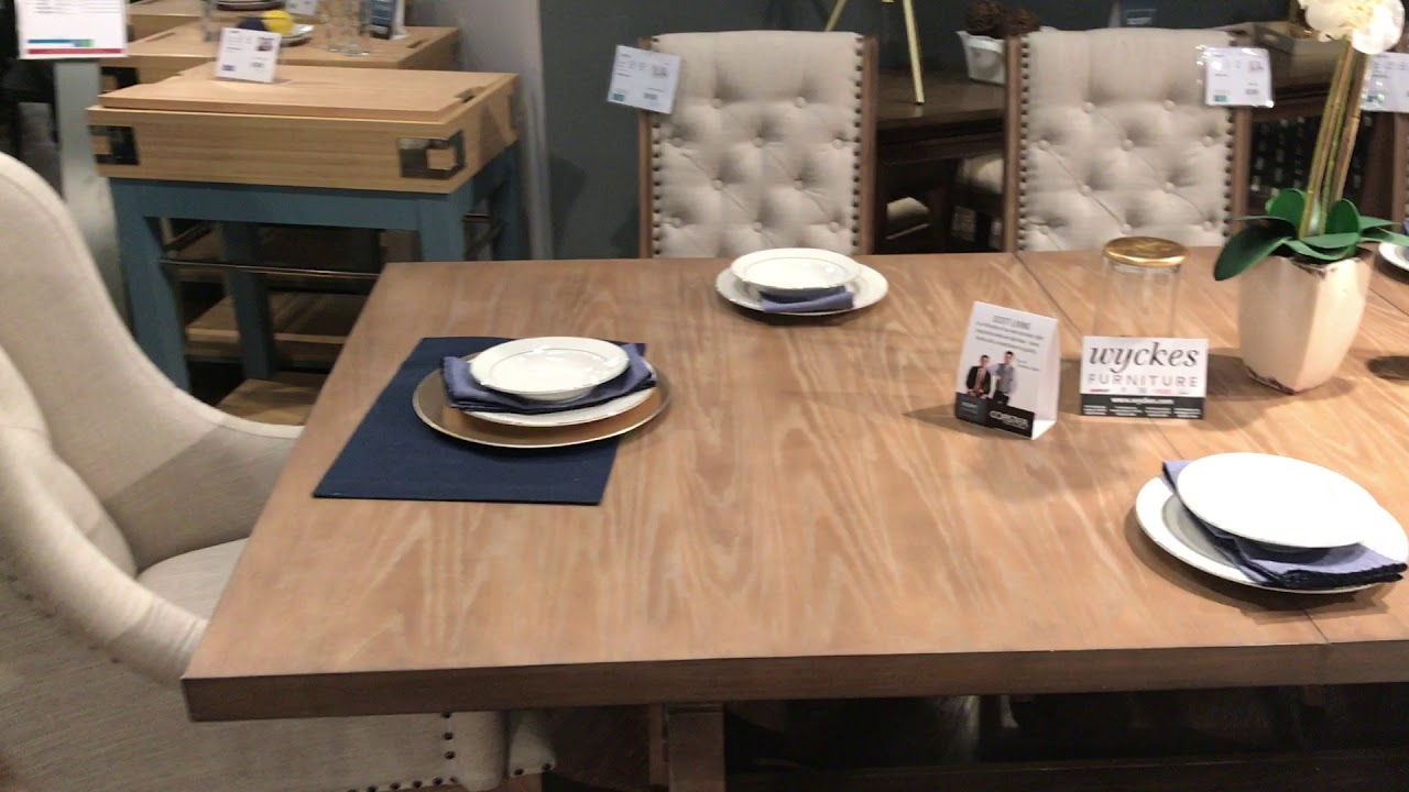 Scott Living Glen Cove 107731 Traditional Weathered Dining Set. Wyckes  Furniture