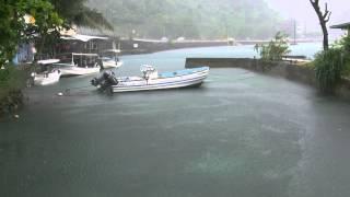 アキーラさん雨宿り②親日国パラオ・コロール・スコール,Squall,Koror-town ,Palau